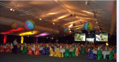 """Beach and Bling"" 1 - EVA Conference Dinner theme - Novotel Twin Waters Qld."